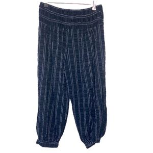 Ace & Jig Striped Cropped Pull On Pants Small